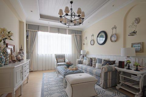 地中海风格130平米套房新房装修效果图