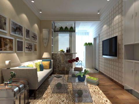 现代风格70平米公寓房子装饰效果图