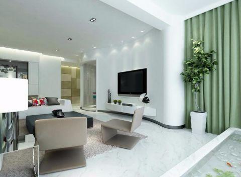 现代风格180平米大户型房子装饰效果图