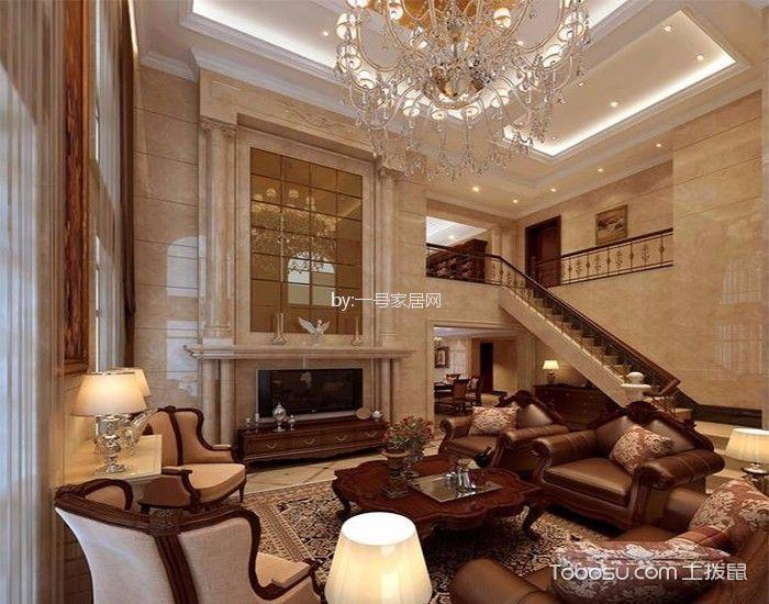 杭州万科公望别墅美式风格装修效果图