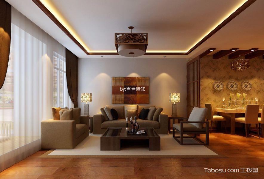 中信城枫丹白露中式风格四居室装修效果图