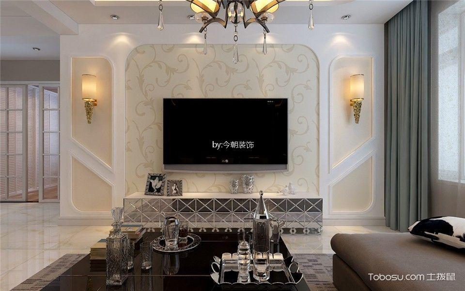 万龙台北明珠108平现代简约二居室装修效果图