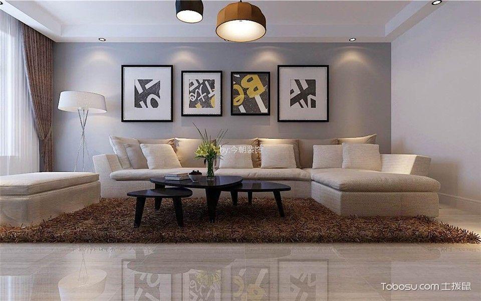 绿地新里中央公馆138平简约风格三居室装修效果图