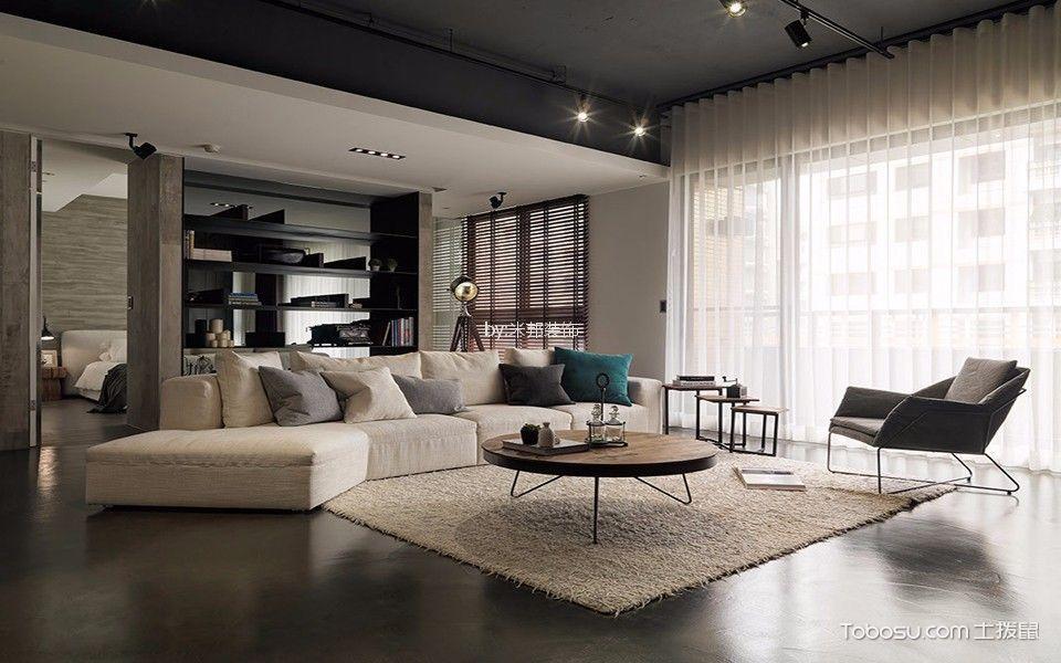 混搭风格138平米3房2厅房子装饰效果图