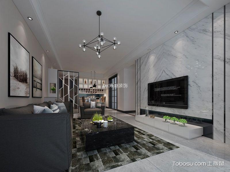 简约风格86平米3房2厅房子装饰效果图