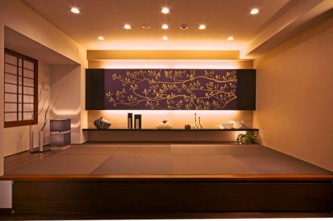客厅日式风格效果图大全2017图片_土拨鼠简约写意客厅日式风格装修设计效果图欣赏