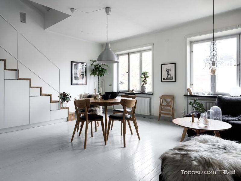 厨房北欧风格效果图大全2017图片_土拨鼠简约纯净厨房北欧风格装修设计效果图欣赏