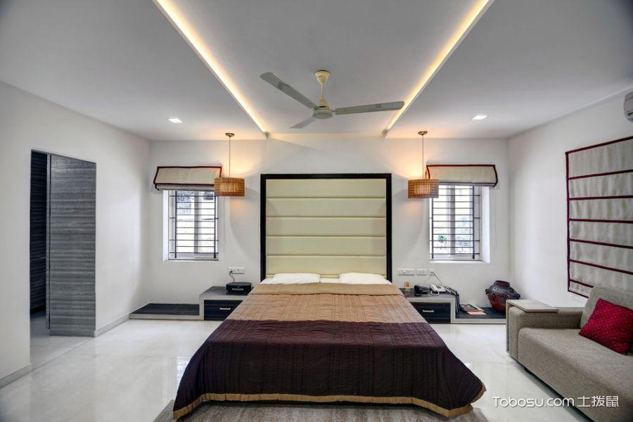 卧室现代风格效果图大全2017图片_土拨鼠温暖舒适卧室现代风格装修设计效果图欣赏