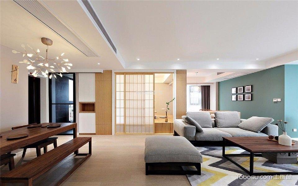托斯卡纳89平现代简约风格三居室装修效果图