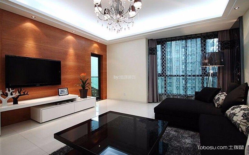山川蘭庭130平米现代简约风格四居装修效果图