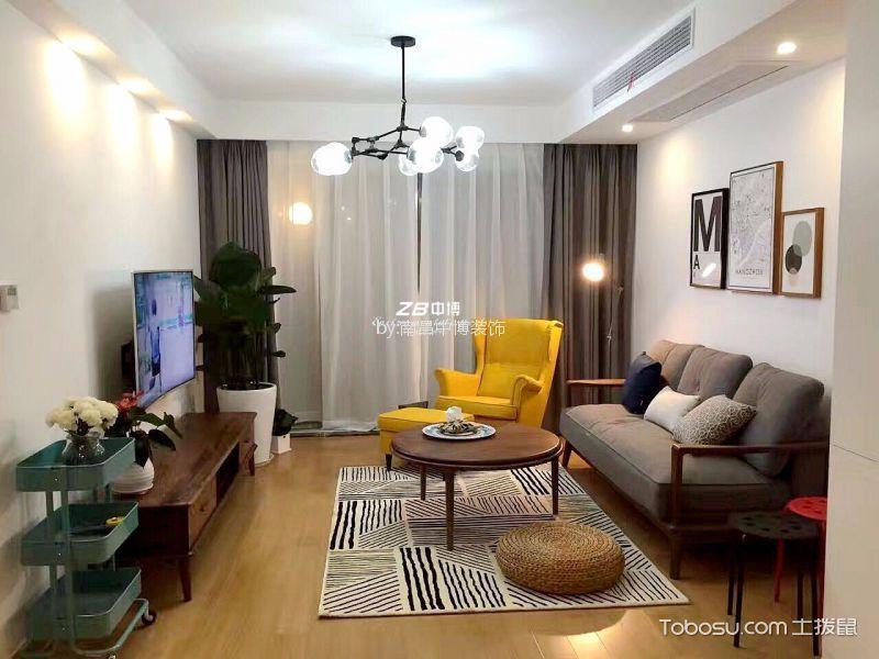 简约风格90平三居室装修效果图