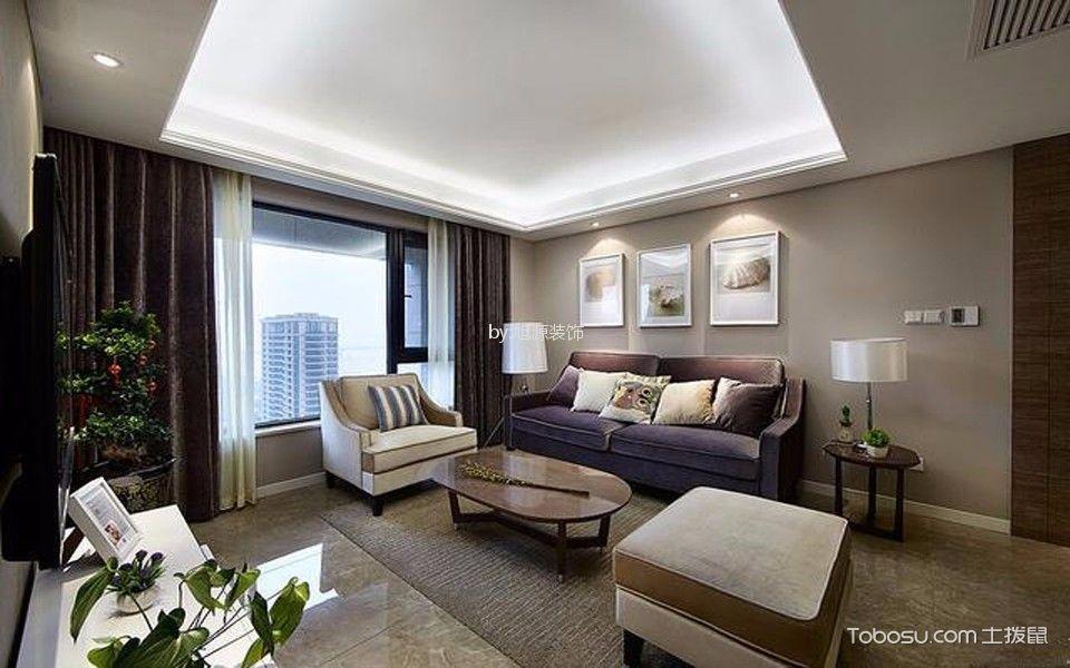 四季康城89平米现代简约风格两居装修效果图