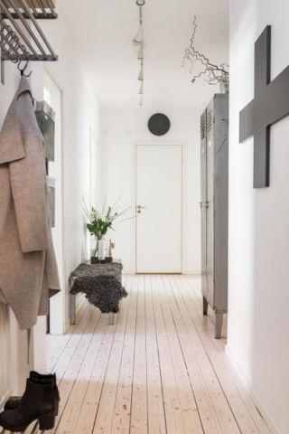 走廊北欧风格效果图大全2017图片_土拨鼠大气优雅走廊北欧风格装修设计效果图欣赏