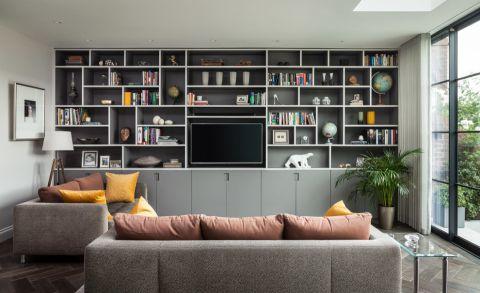 客厅现代风格效果图大全2017图片_土拨鼠个性质感客厅现代风格装修设计效果图欣赏