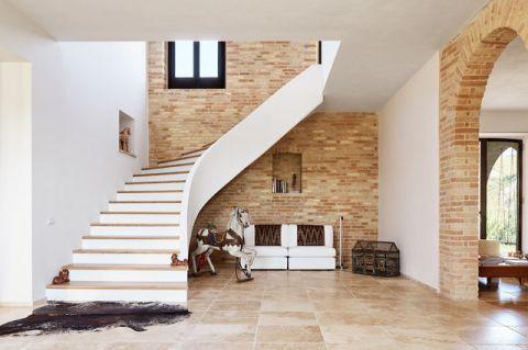 楼梯地中海风格效果图大全2017图片_土拨鼠古朴写意楼梯地中海风格装修设计效果图欣赏