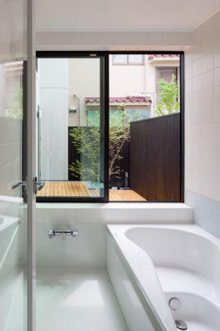 浴室日式风格效果图大全2017图片_土拨鼠大气自然浴室日式风格装修设计效果图欣赏