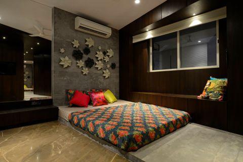 卧室背景墙现代装饰效果图