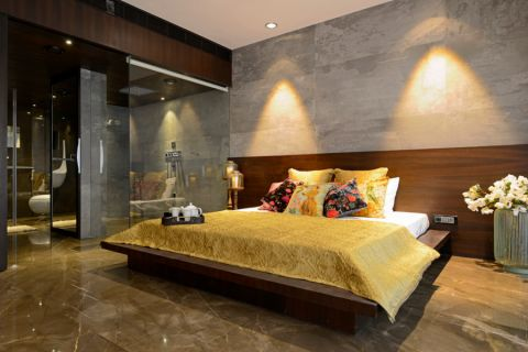 现代卧室背景墙设计方案