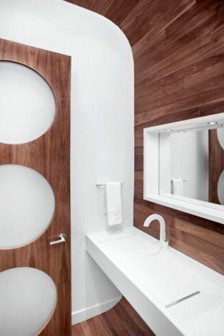 清新素丽卫生间洗漱台设计