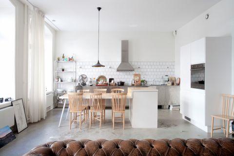 北欧厨房餐桌装修案例