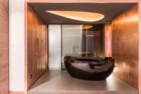 浴室现代风格效果图大全2017图片_土拨鼠温暖写意浴室现代风格装修设计效果图欣赏