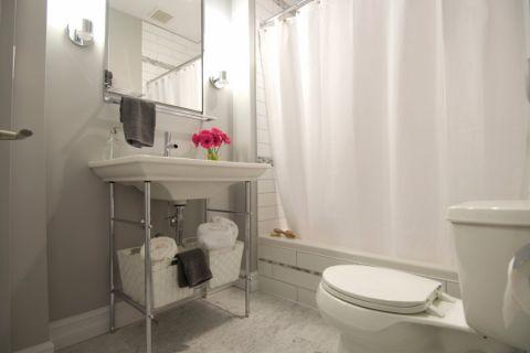 浴室简欧风格效果图大全2017图片_土拨鼠温暖唯美浴室简欧风格装修设计效果图欣赏