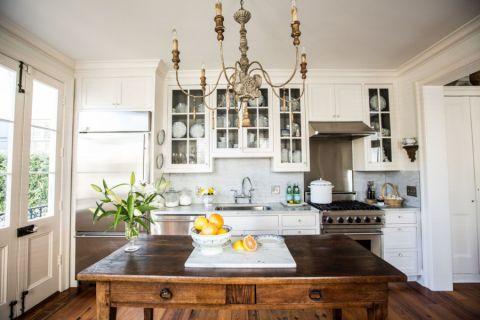 厨房简欧风格效果图大全2017图片_土拨鼠典雅时尚厨房简欧风格装修设计效果图欣赏