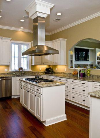 厨房混搭风格效果图大全2017图片_土拨鼠干净纯净厨房混搭风格装修设计效果图欣赏