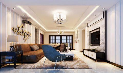 深圳保利90平米现代简约风格套房装修效果图