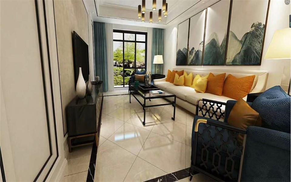 3室2卫1厅90平米新中式风格