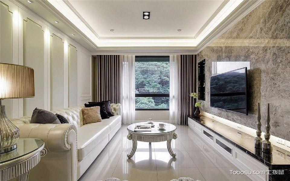 文一名门河畔100平简欧风格三居室装修效果图