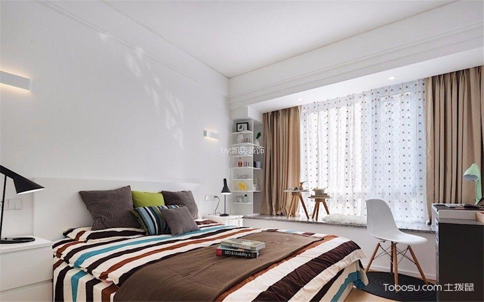 秦状元里60-64号小区欧式风格120平三室两厅一卫装修效果图