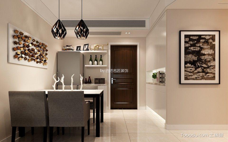 餐厅 门厅_华润桃源里89平方三居室现代简约风格装修效果图