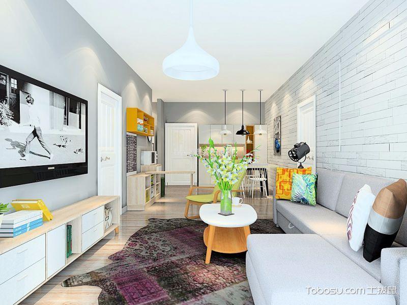 博澳城简约风格两室一厅装修效果图