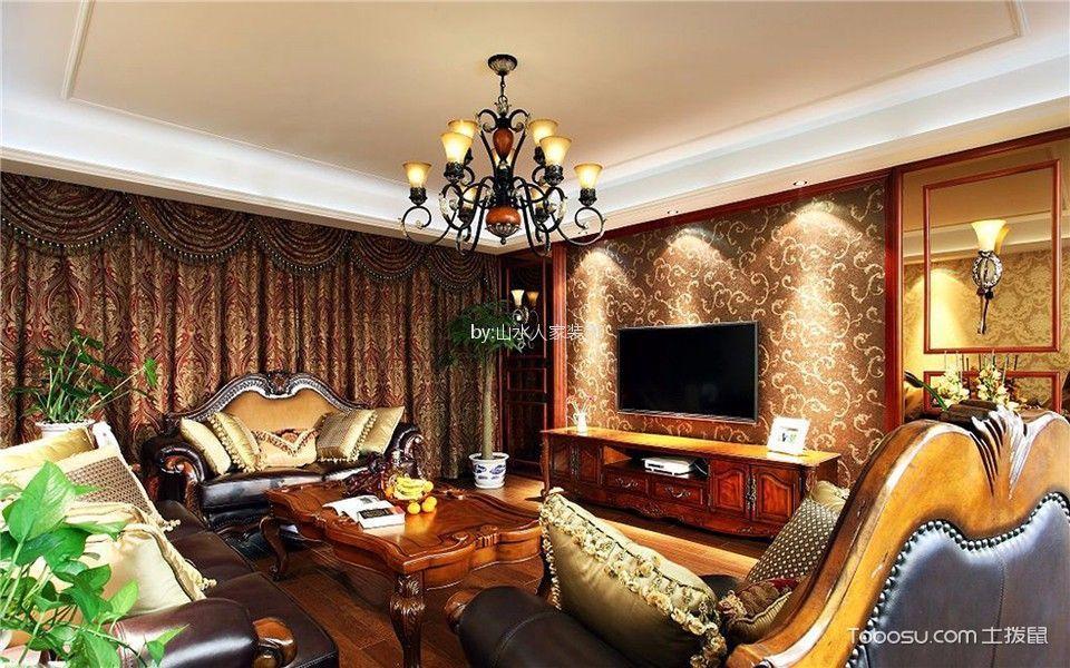 鸿发翰林府129平欧式风格三居室装修效果图