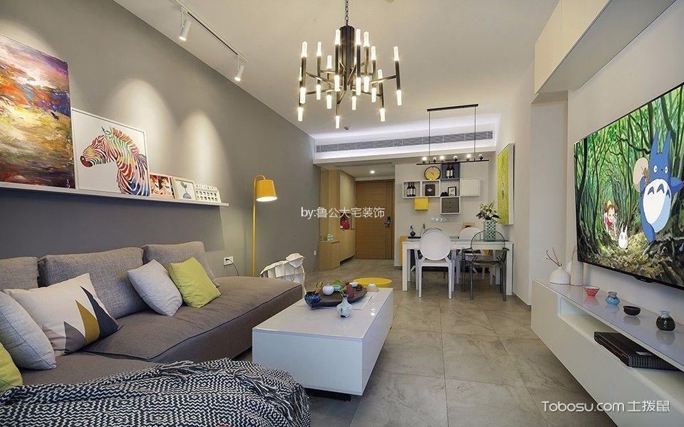 万象天宇国际89平现代简约风格两居室装修效果图