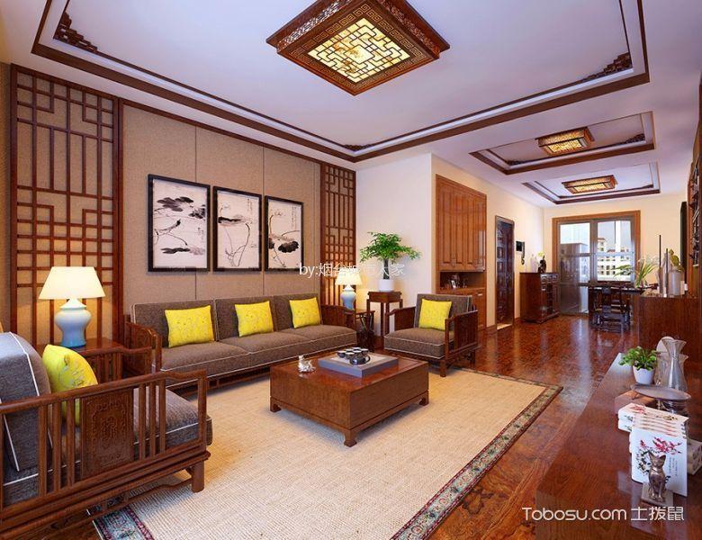 海悦府新中式风格复式185平米装修效果图