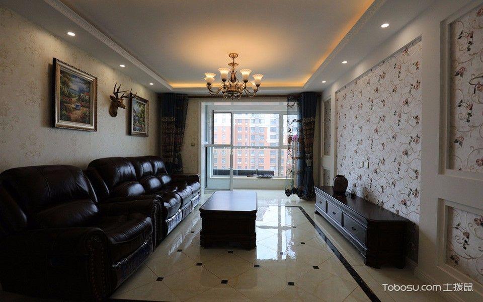 万光福园120平米美式风格三居室装修效果图