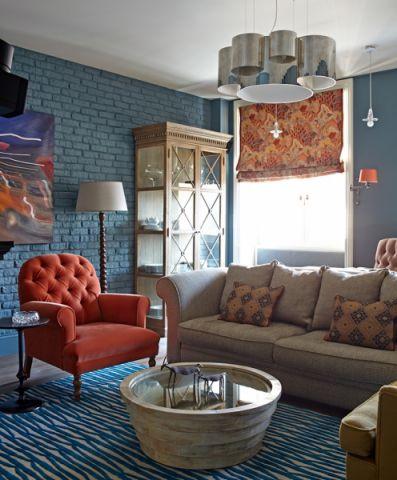 客厅混搭风格效果图大全2017图片_土拨鼠潮流自然客厅混搭风格装修设计效果图欣赏