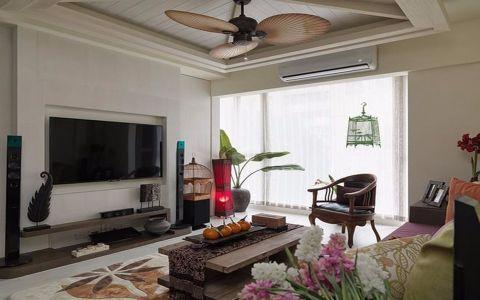 2020东南亚120平米装修效果图片 2020东南亚三居室装修设计图片