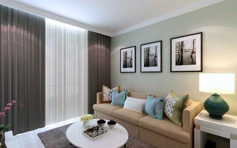 山河城二居室现代简约风格80平米装修效果图