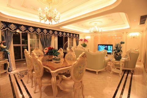 雍江翠湖140平方三居室法式風格裝修效果圖