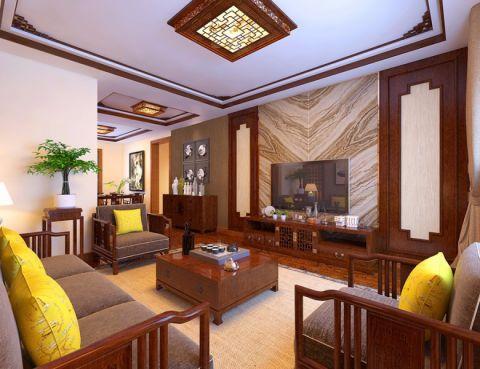 清新彩色客厅装潢实景图片