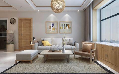 红谷世界城93平米三室日式风格装修效果图