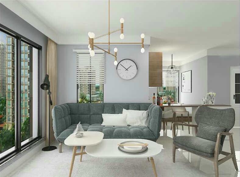 3室1卫2厅121平米现代简约风格