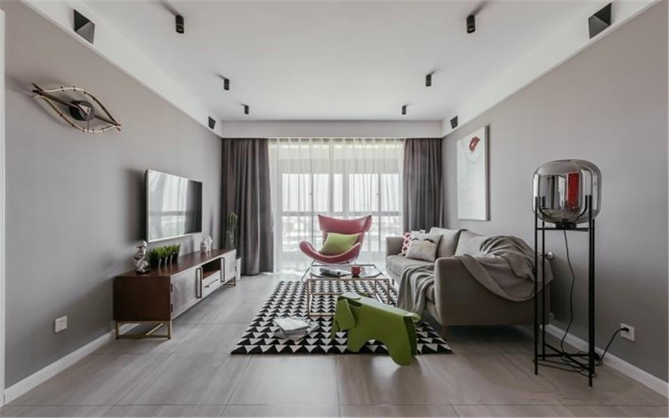 2室1卫1厅110平米北欧风格