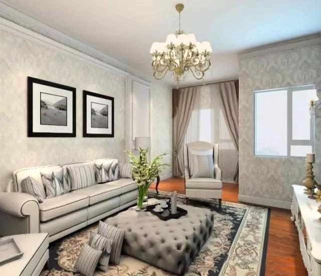 2室1卫2厅91平米欧式风格