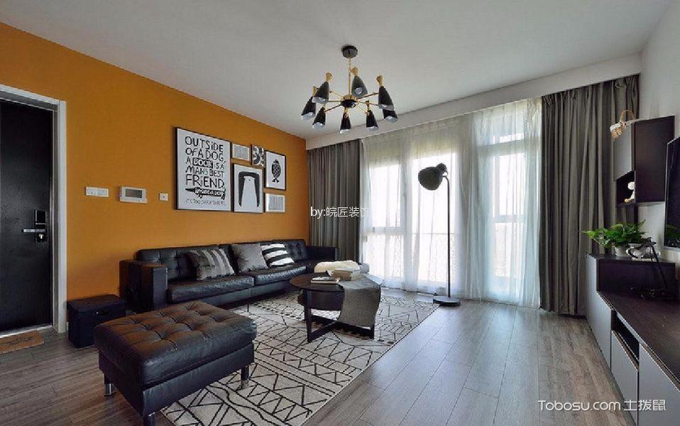 北辰天都101平米现代简约风格三居室装修效果图