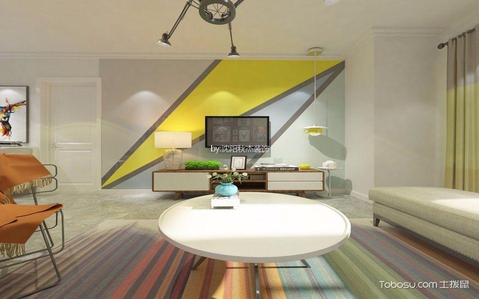 唐轩公馆90平两室北欧风格效果图