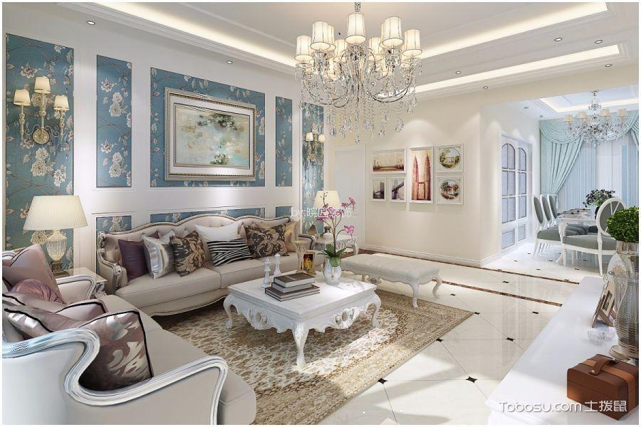 玫瑰园140平简欧风格三居室装修效果图